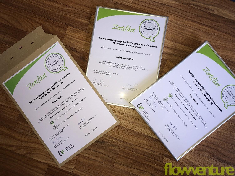 flowventure ist beQ zertifizierter Anbieter